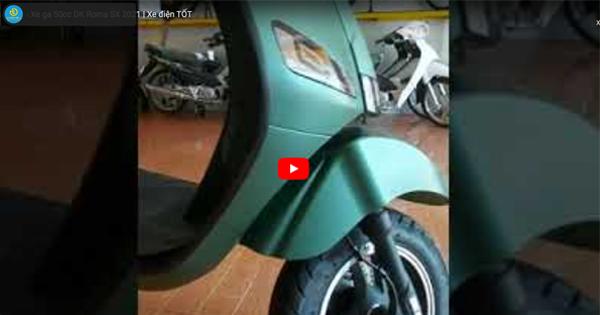 Đánh giá nhanh mẫu Xe ga 50cc DK Roma SX 2021 | Xe điện TỐT
